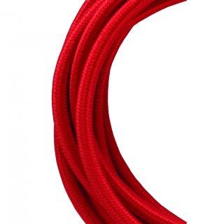 Textilkabel 2C Rot 50 Meter Bailey