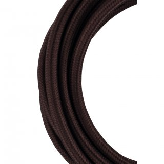 Textile coated cable 2C brown 50m Bailey