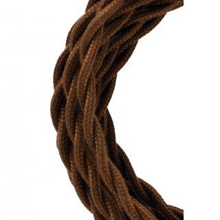 Textilkabel Twisted 2C Braun 50 Meter Bailey