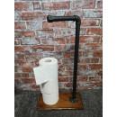 LemiArts Design Toilet Paper Stand Industrial Design black metal malleable cast iron