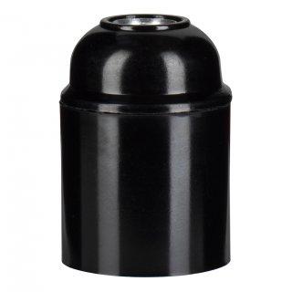 Bakelit Lamp socket E27 M10x1 Black