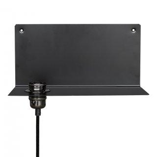 Wandlampe Metall Retro schwarz E27