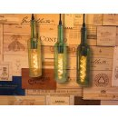 Pendant lamp Bottle Moselle green E27 1,5m