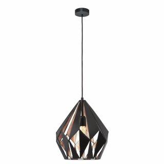 EGLO Pendant lamp black copper E27 60W