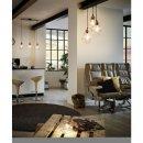 EGLO Pendant lamp, black, steel, copper frame, 3xE27 60W