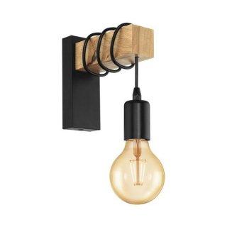 Wall lamp black brown