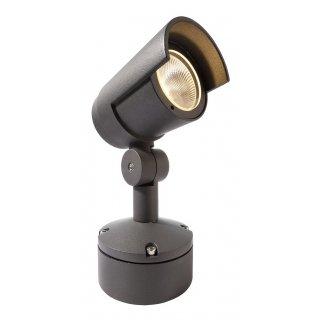 floor / wall / ceiling lamp, dark grey, warm white