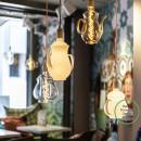 LED Teapot Chai klar/gold/milchig E27 4W
