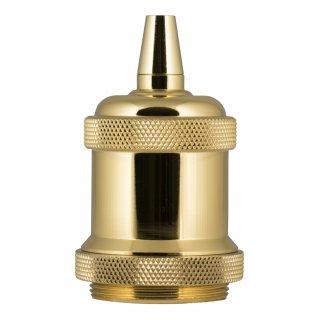 Retro frame aluminium E27 gold