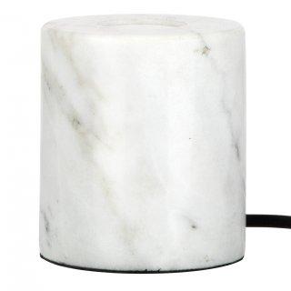 Tischlampe Marmor weiß E27 60W