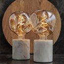 Table lamp marble white E27 60 W