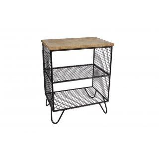 Van Manen open shelf, Bernard, 48x38x25cm, natural/black metal