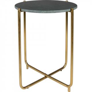 Beistelltisch Timpa 54x45 cm stahl gold marmor
