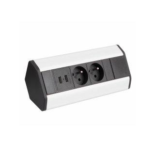 Design Light Cornerbox 2x Schuko + 2x USB