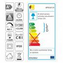 Design Light APOLLO 15W LED DECKENLEUCHTE Warmweiß 3000K A+